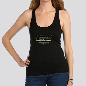 Police Dispatcher 911 Thin Gold Line Tank Top