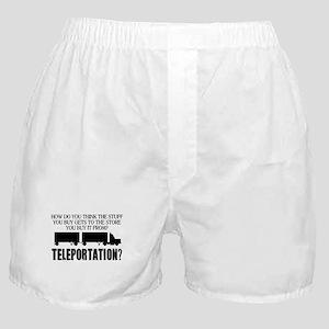Teleportation Truck Driver Boxer Shorts