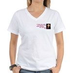Ignorant & Free Women's V-Neck T-Shirt