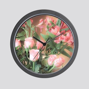 Rose Bouquet 2 Wall Clock