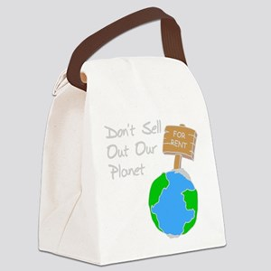 don't sell out our planet gray Canvas Lunch Ba
