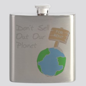 don't sell out our planet gray Flask