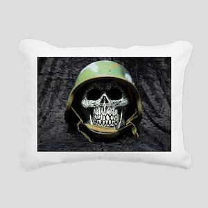 Army skull Rectangular Canvas Pillow