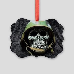 Army skull Picture Ornament