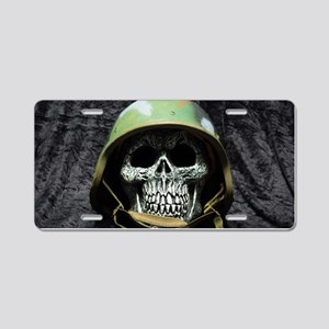 Army skull Aluminum License Plate