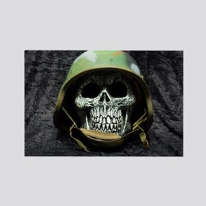 Army skull Rectangle Magnet