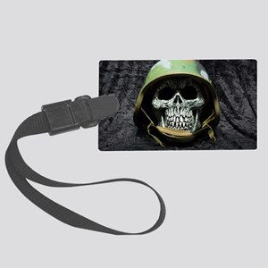 Army skull Large Luggage Tag
