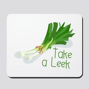Take a Leek Mousepad