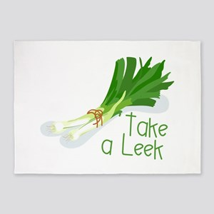 Take a Leek 5'x7'Area Rug