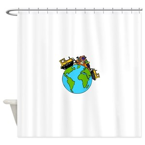 Save The Planet Shower Curtains
