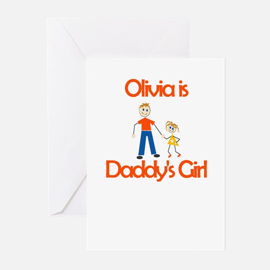 Olivia is Daddy's Girl Greeting Cards (Package of