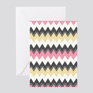 Fancy Chevron Greeting Cards