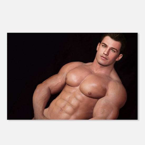 Unique Bodybuilding Postcards (Package of 8)