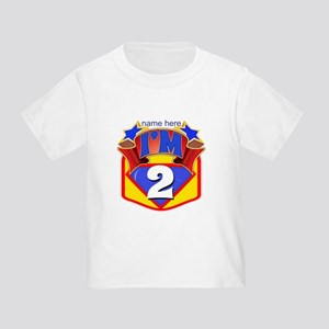 Superhero 2nd Birthday Toddler T-Shirt