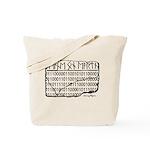 Peace On Earth (runes & Binary) Tote Bag