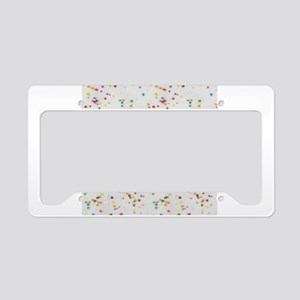 Colored Sprinkles License Plate Holder