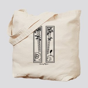 Peace Bamboo Heron Tote Bag