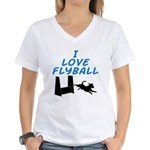 Love Flyball Women's V-Neck T-Shirt
