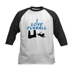 Love Flyball Kids Baseball Jersey