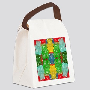 cute candy colorful modern trendy Canvas Lunch Bag