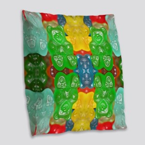 cute candy colorful modern tre Burlap Throw Pillow