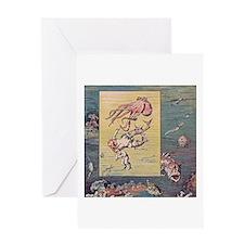 Mermaid and Octopus Greeting Card
