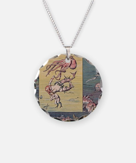 Mermaid and Octopus Necklace