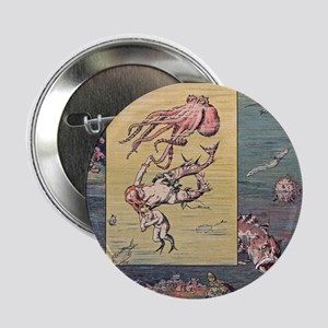 """Mermaid and Octopus 2.25"""" Button"""