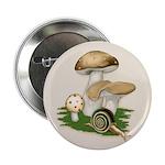 "Snail in Mushroom Garden 2.25"" Button"