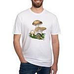 Snail in Mushroom Garden Fitted T-Shirt