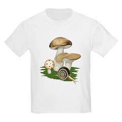 Snail in Mushroom Garden T-Shirt