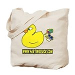 Farting Duck Tote Bag