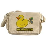 Farting Duck Messenger Bag