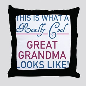 Really Cool Great Grandma Throw Pillow