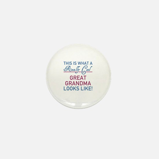 Really Cool Great Grandma Mini Button