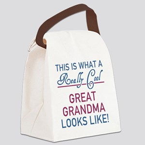 Really Cool Great Grandma Canvas Lunch Bag