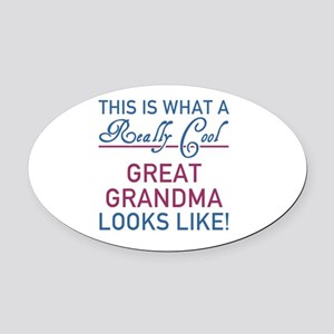 Really Cool Great Grandma Oval Car Magnet