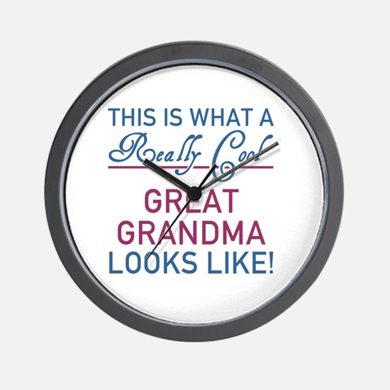 Really Cool Great Grandma Wall Clock
