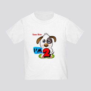 2nd Birthday Puppy Toddler T-Shirt
