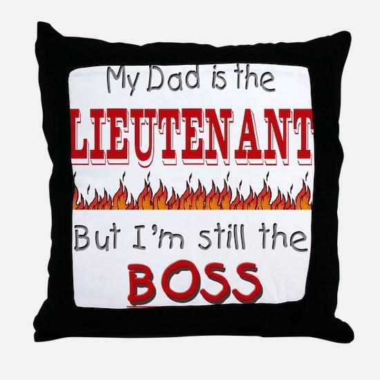 Dad is LIEUTENANT Throw Pillow