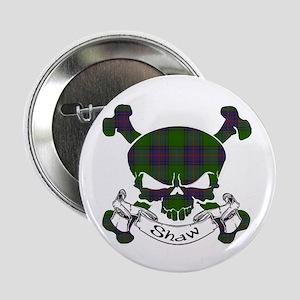 """Shaw Tartan Skull 2.25"""" Button"""