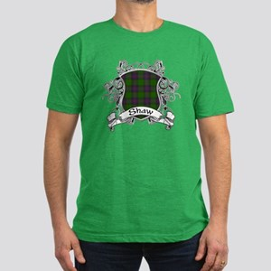 Shaw Tartan Shield Men's Fitted T-Shirt (dark)