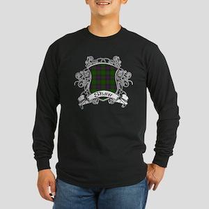 Shaw Tartan Shield Long Sleeve Dark T-Shirt