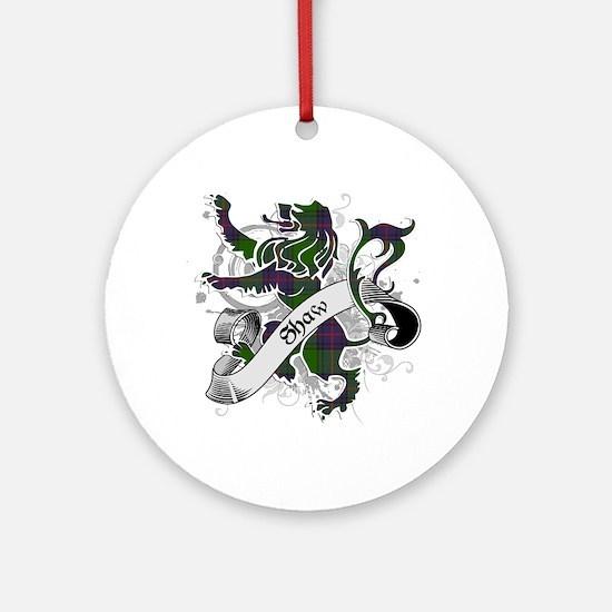 Shaw Tartan Lion Ornament (Round)