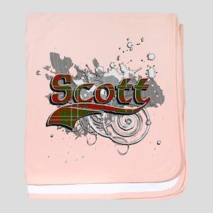 Scott Tartan Grunge baby blanket