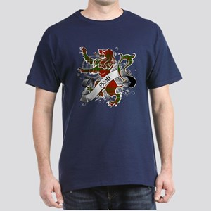 Scott Tartan Lion Dark T-Shirt