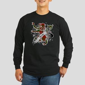 Scott Tartan Lion Long Sleeve Dark T-Shirt