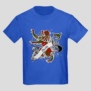 Scott Tartan Lion Kids Dark T-Shirt