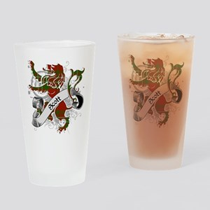Scott Tartan Lion Drinking Glass