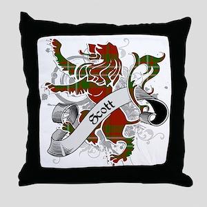 Scott Tartan Lion Throw Pillow